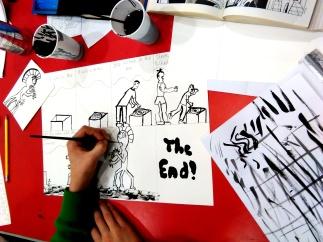 Comics workshop with Artlink Explorers club